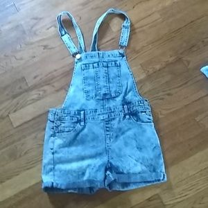 Justice denim overall shorts